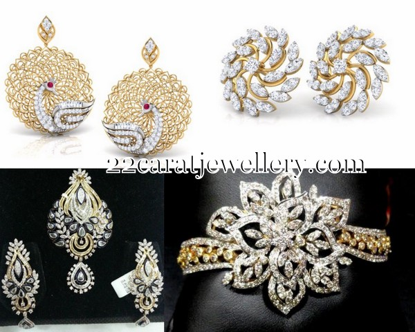 Trendy Diamond Tops For Middle Aged Women Jewellery Designs