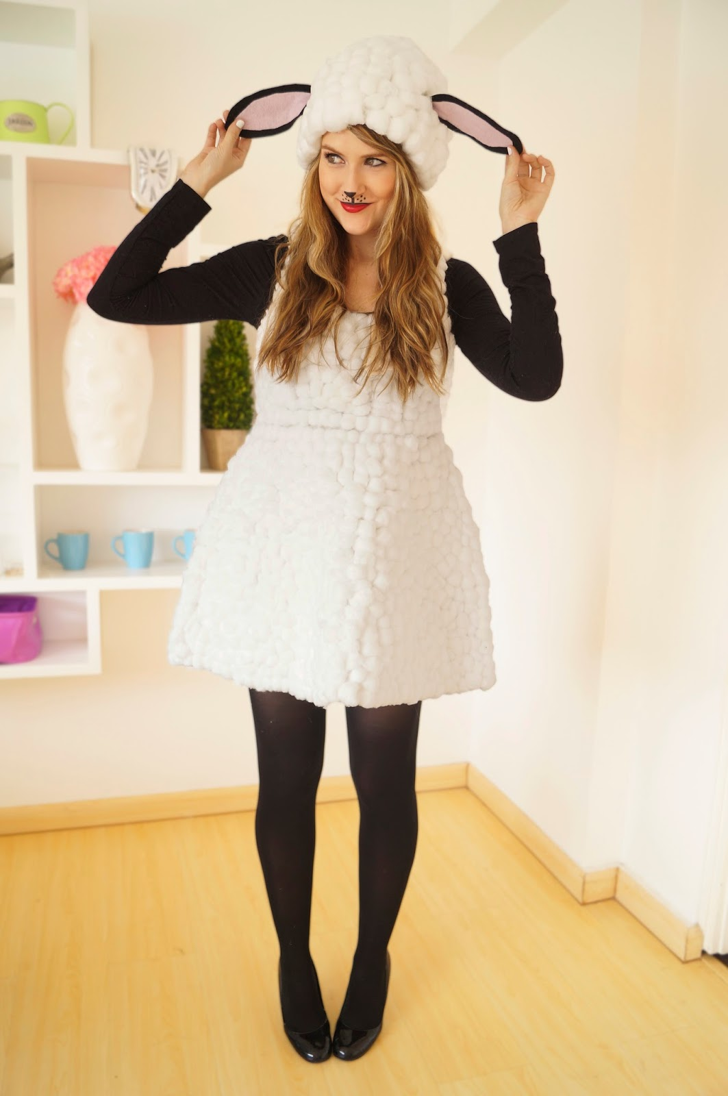 Easy Homemade Sheep Costume Tutorial for Halloween