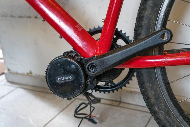E-Bike-Umbau So baust du dir dein eigenes E-Bike mit Mittelmotor  DIY E-MTB Anleitung zum E-Bike Umbau mit Bafang BBS01 Mittelmotor E-Bike selber bauen aus altem Mountainbike 22