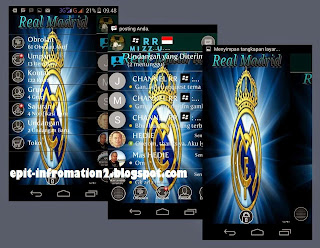 BBM Mod Real Madrid Based 2.8.0.21 Terbaru