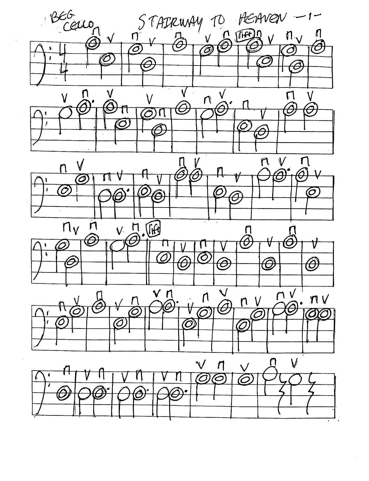 Miss Jacobson S Music Stairway To Heaven Worksheets
