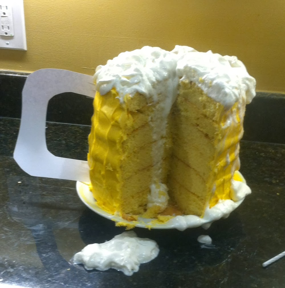 Handbrewed Soaps: Beer Mug Shaped Birthday Cake