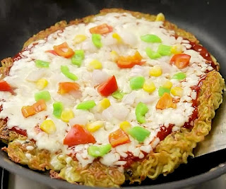 how to make maggi pizza