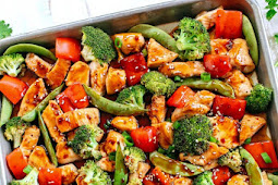 SHEET PAN SESAME CHICKEN AND VEGGIES