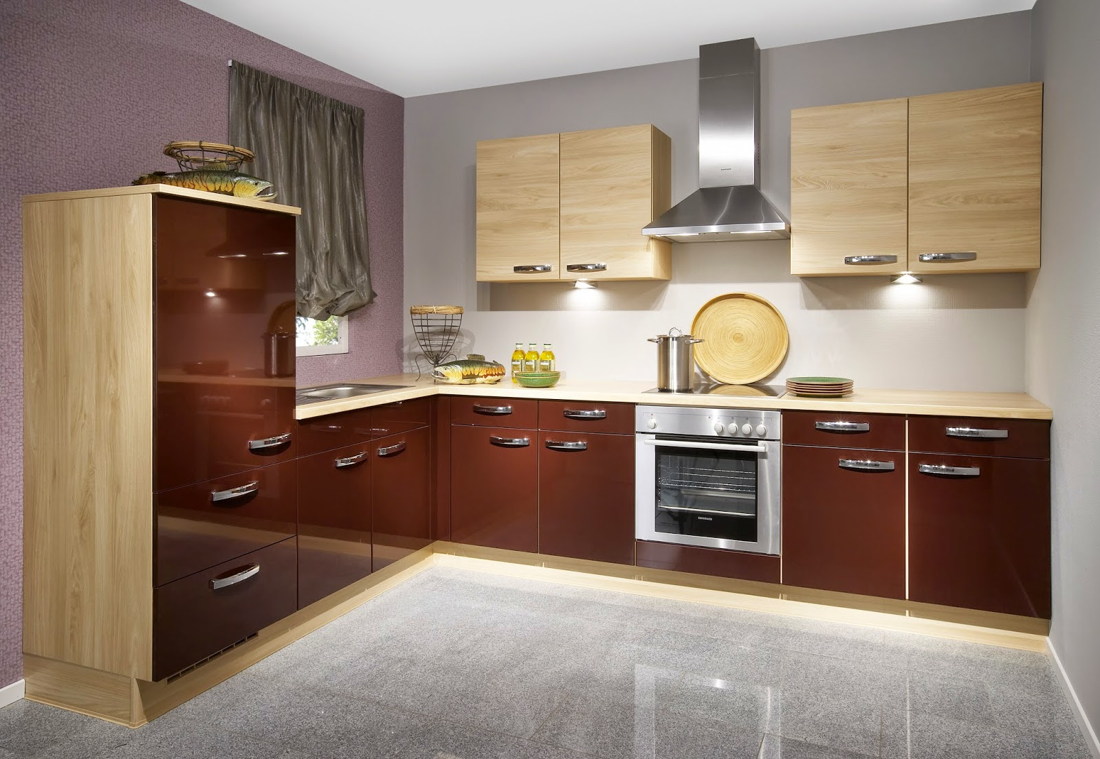 Warna Coklat Muda Kombinasi Warna Cat Dapur Wallpaper Dinding