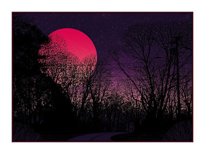 """Super Blue Blood Moon"" Screen Print by Dan McCarthy"