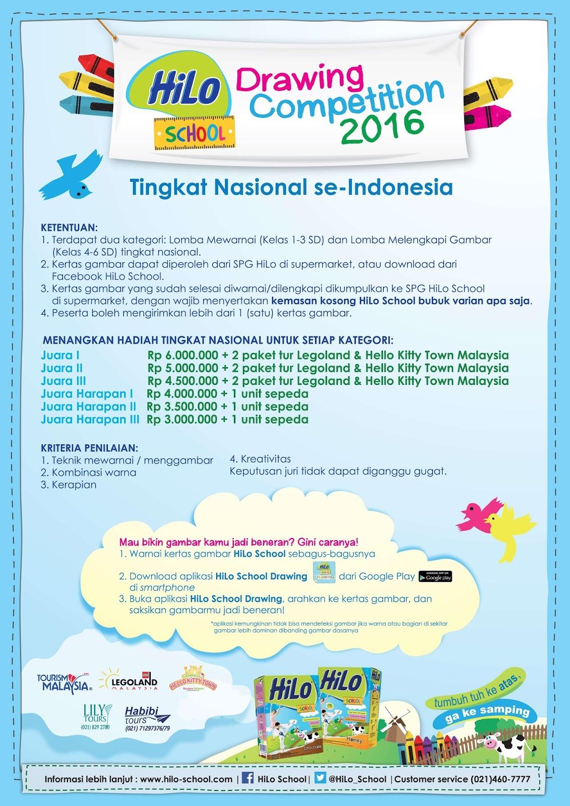 Hilo Drawing Contest 2016 Berhadiah Uang Lebih dari 20 Juta