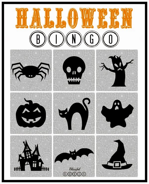 Make Your Own Bingo Card: BLISSFUL ROOTS: How To Make Your Own Halloween Bingo Cards