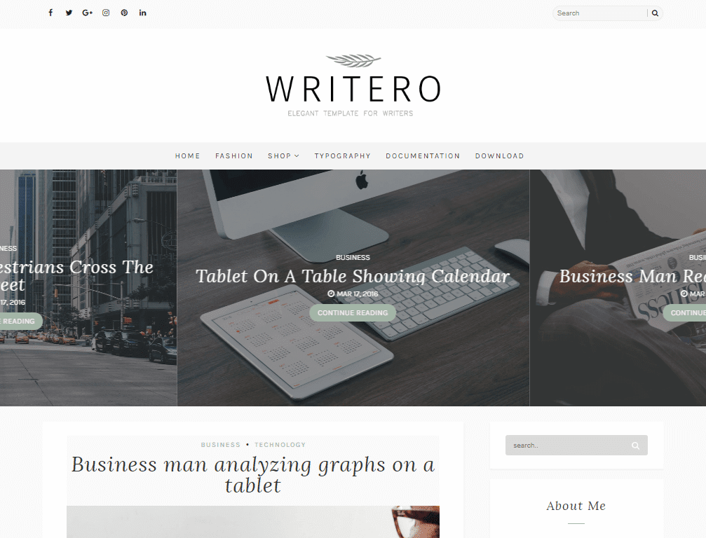 Writero Lifestyle Responsive Blogger Template