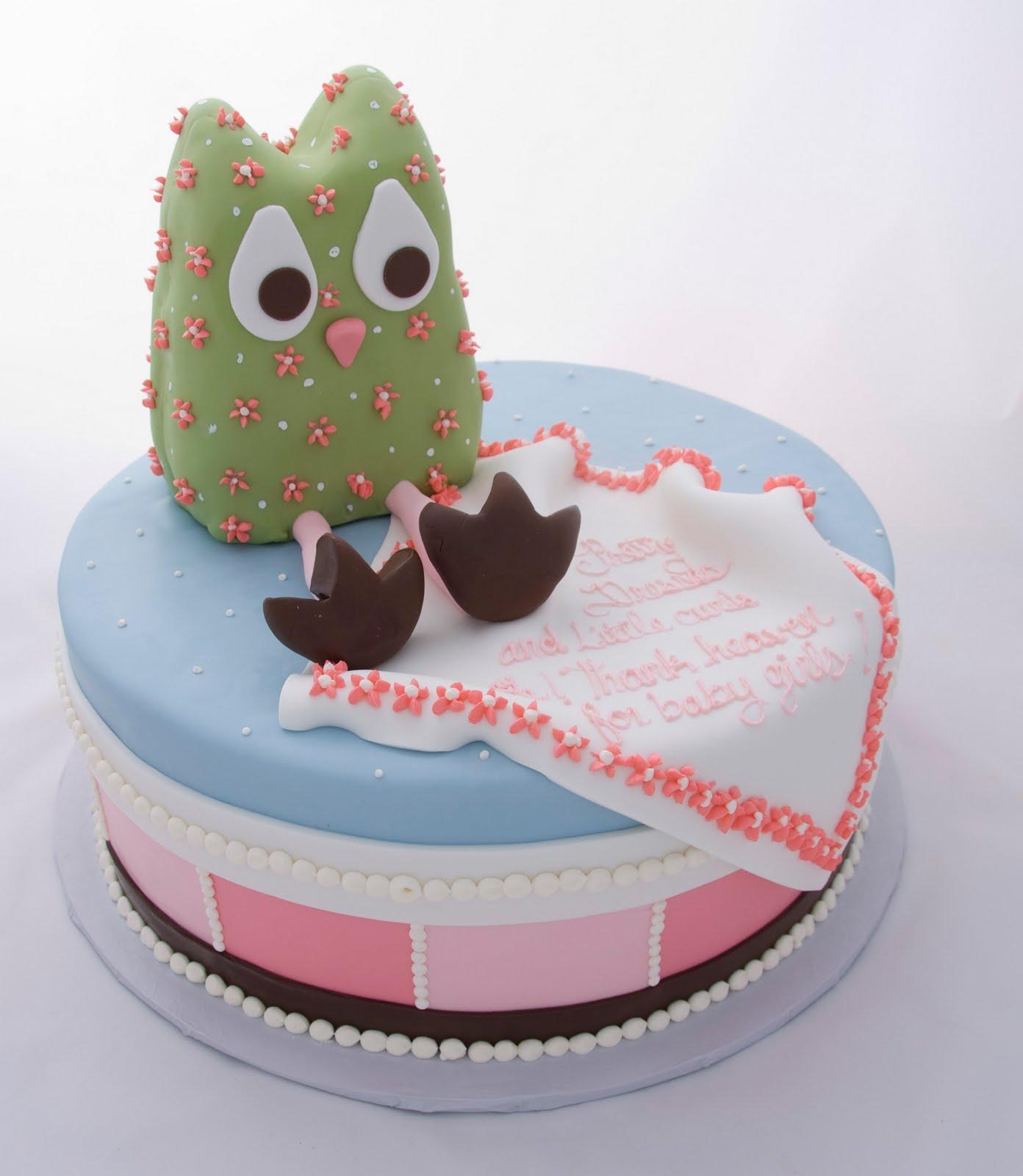 Barn Owl Birthday Cake