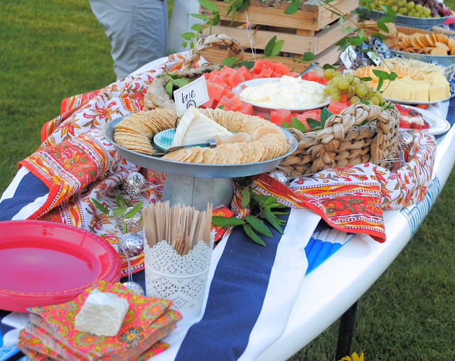 Stand up paddle board buffet table, Dinner by the lake, Summer soiree by the lake