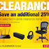 [Staples] Save an additional 25% on select in-store clearance
