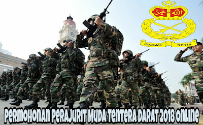 Permohonan Pengambilan Perajurit Muda Tentera Darat 2018 Online