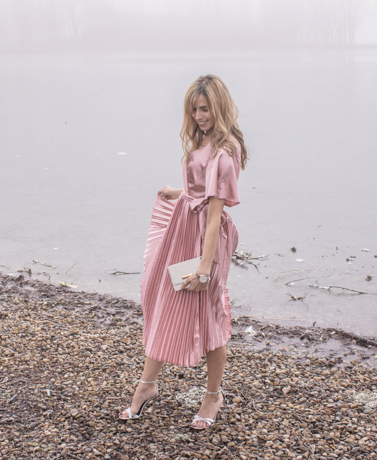 Dress With Pleated Skirt From Pretty Little Thing
