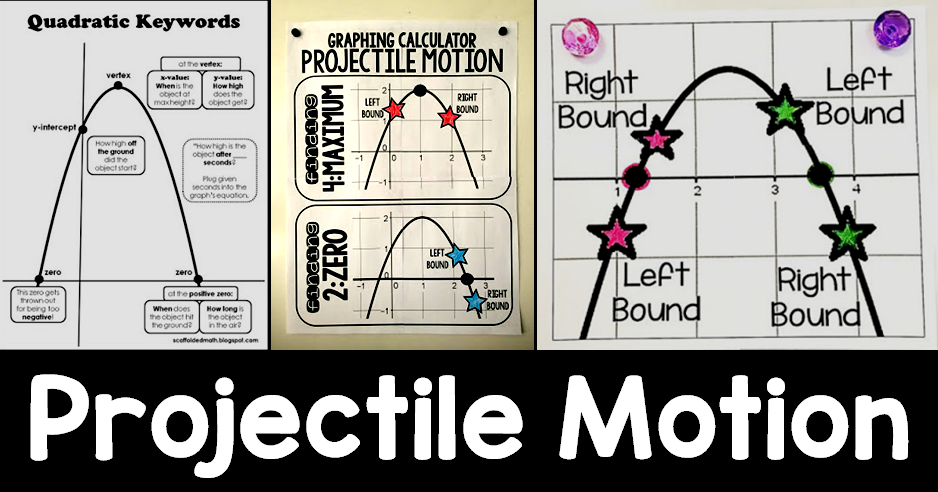 Scaffolded Math and Science: Projectile Motion Posters
