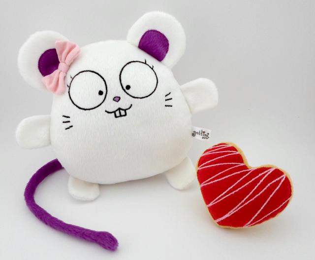 ratón de peluche guyuminos recuerdo cumpleaños, navidad, san valentín