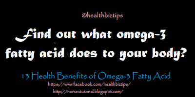 What omega-3 fatty acid does to your body?