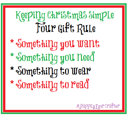 A Happily Ever Crafter: Keeping Christmas Simple Four Gift ...