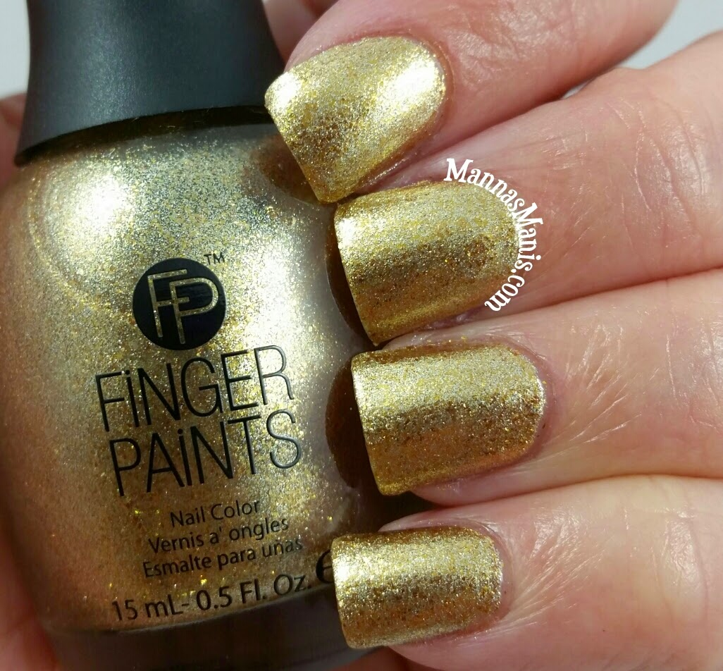 fingerpaints masked beauty, a gold foil nail polish