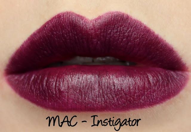 MAC The Matte Lip 2015 - Instigator Lipstick Swatches & Review