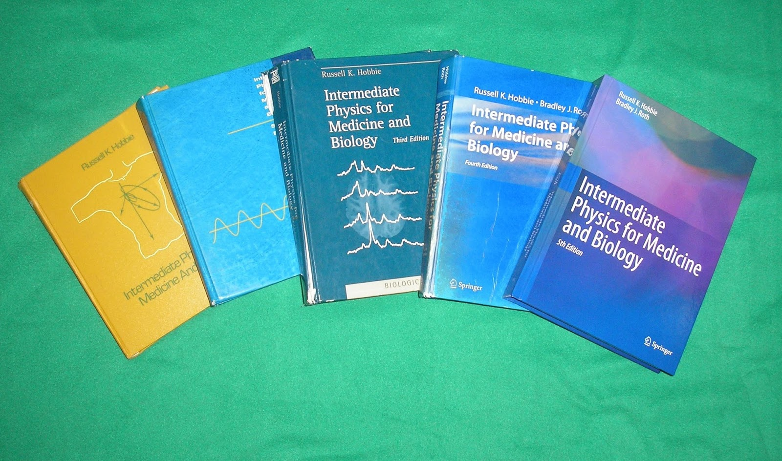 There now exist five generations (editions) of Intermediate Physics for  Medicine and Biology. My office is one of the few places you can find all  ...