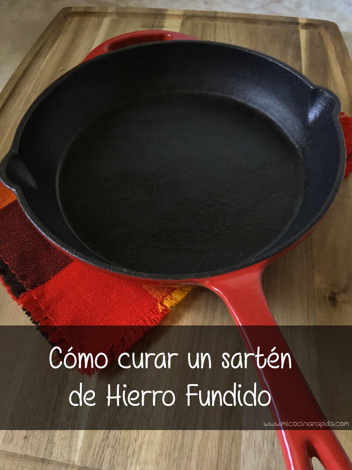 C mo curar un sart n de hierro fundido mi cocina r pida - Sartenes hierro fundido ...