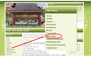 Nilai Online di Website SMA Plus Negeri 17 Palembang - lovehaseyo.com