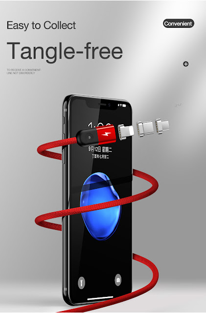 6f1d0a0dc To Buy It Click Here Features: Adopted strong nylon,not easy to snap.  Gentle blue LED light, easier to get charging in dark night.