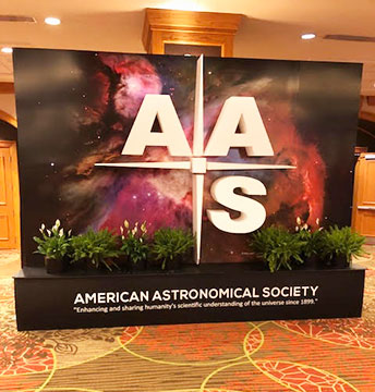Next time you could be walking by this AAS sign to some exciting meeting sessions