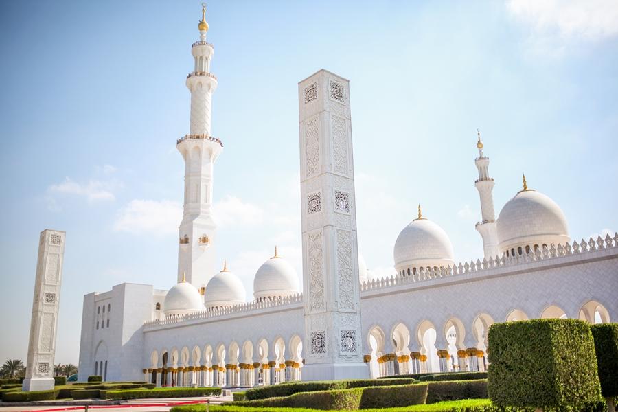weiße moschee in abu dhabi zayed mosque
