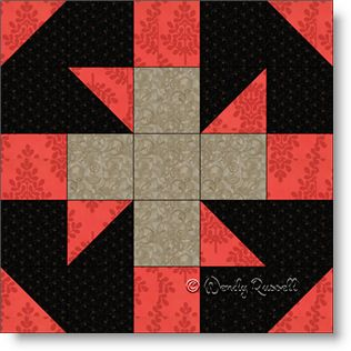 Baton Rouge Square quilt block image © Wendy Russell