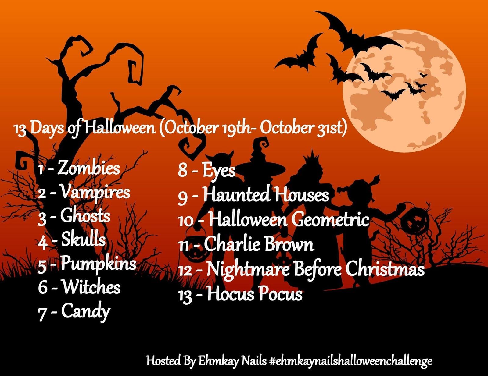ehmkay nails: 13 Days of Halloween Nail Art: Pumpkin Stamping