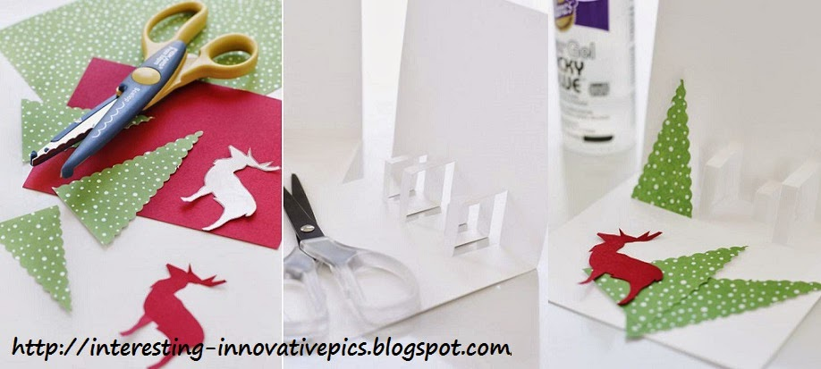 Diy christmas deer tree pop up card creative things blog make your own christmas gift cards for kids m4hsunfo