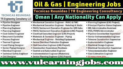 TR Engineering Consultancy Staff Recruitment In Oman || Jobs In Middle East