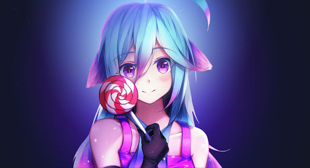 Candy Anime Girl Wallpaper Engine