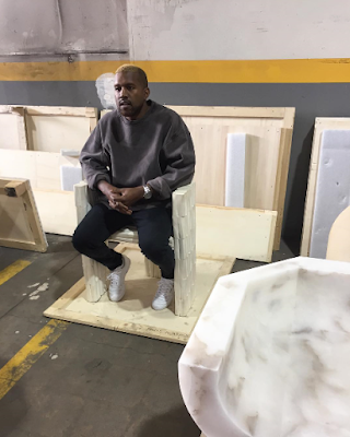 Kanye West is back with a new hair colour