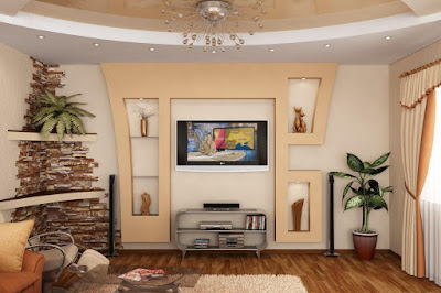 Latest gypsum board wall designs for hall and living room 2019 catalogue