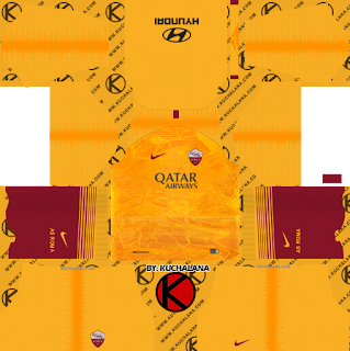 AS Roma 2018/19 Third Kit - Dream League Soccer Kits