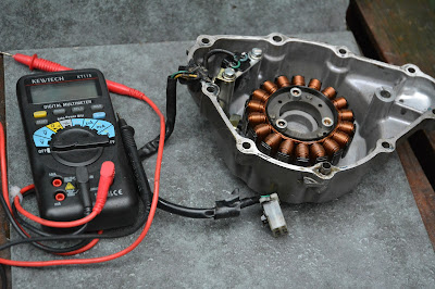 Honda CBR 125 R Pick up coil testing ( no spark test )