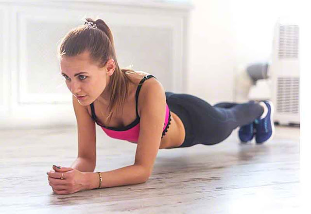 Girl doing the Low Plank, fitness, exercise, abs