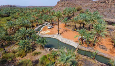 Pemandangan indah di Khaybar Arab Saudi