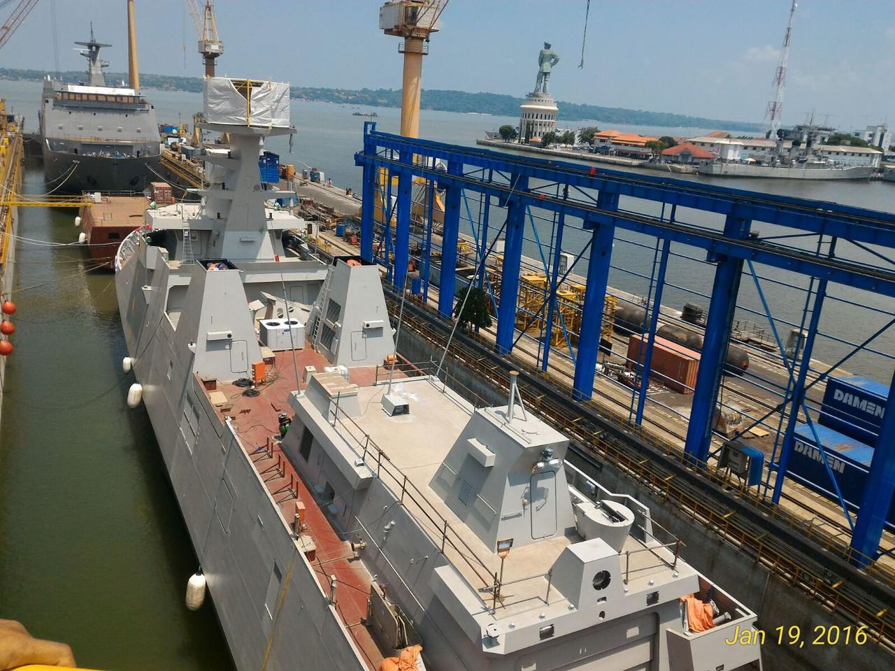 Kasal Tinjau Pembangunan Kapal 'Perusak Kawal Rudal' Buatan PT PAL
