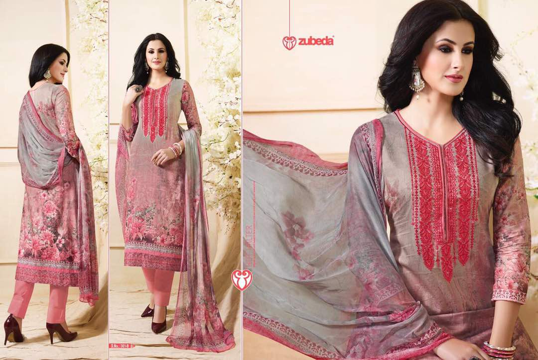 Simran 2 – Simple And Beautiful Pure Cotton Satin Digital Printed Salwar Kameez
