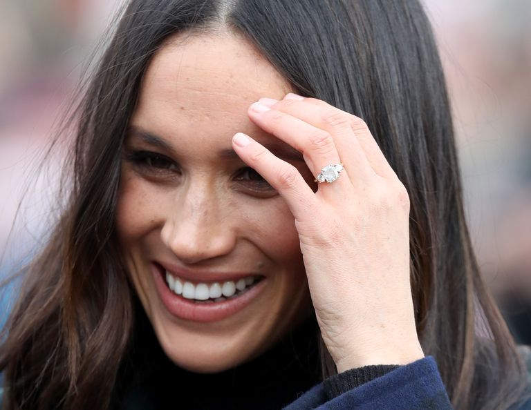 Harry proposed to Meghan with a ring featuring two diamonds from Diana's brooch