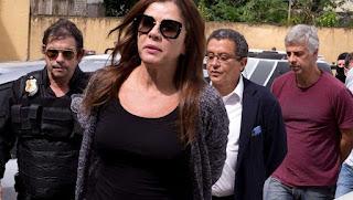 Es Mónica Moura, que está presa por su actuación en el escándalo de pagos ilegales de compañías brasileñas.