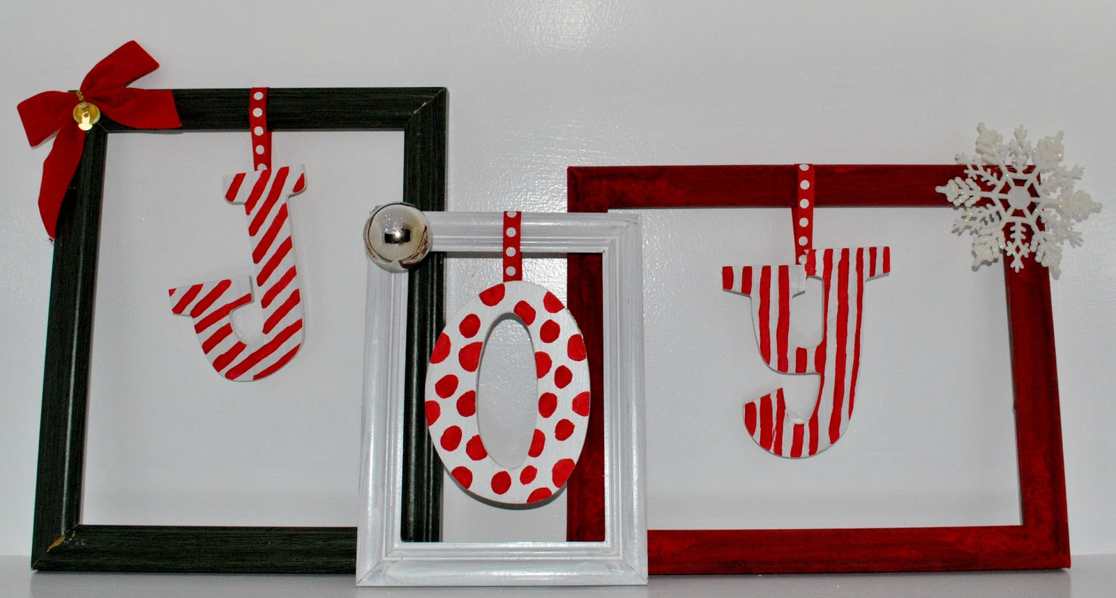 diy picture frame christmas decorations
