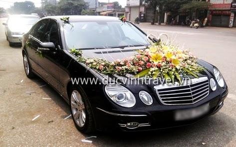 Cho thuê xe cưới Mercedes E240 của thương hiệu xe cưới Đức Vinh 1