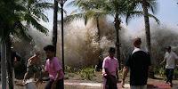 Momento del impacto del tsunami