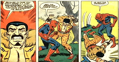 Amazing Spider-Man #49, john romita, Spidey fells Kraven with a punch that once staggered the hulk