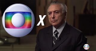 Temer declara guerra à Rede Globo e executa dívidas da emissora com a União